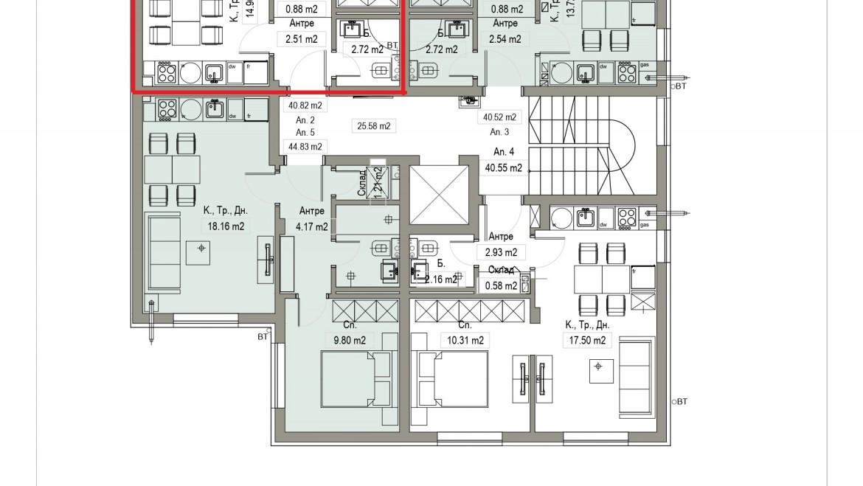Aп.2 – Апартамент с 1 спалня