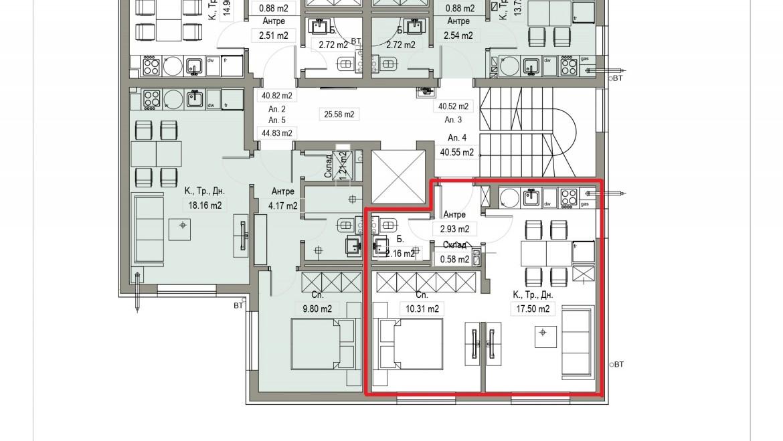 Aп.4 – Апартамент с 1 спалня