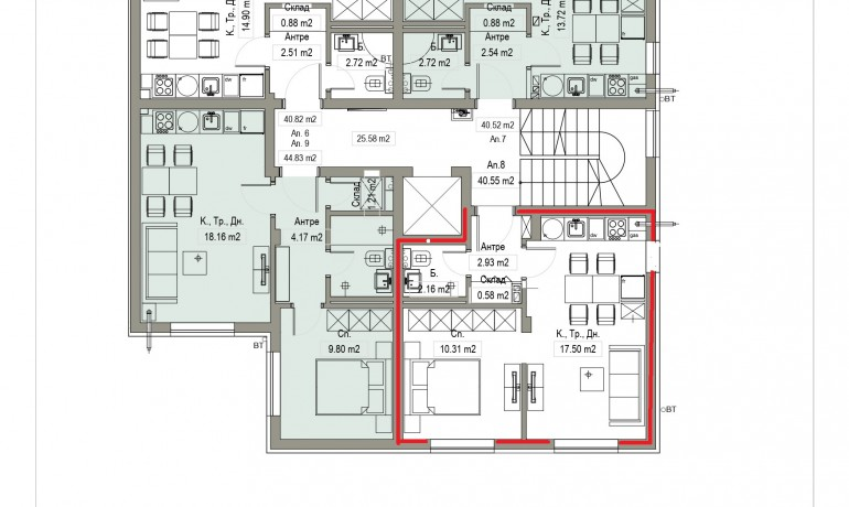 Aп.8 – Апартамент с 1 спалня