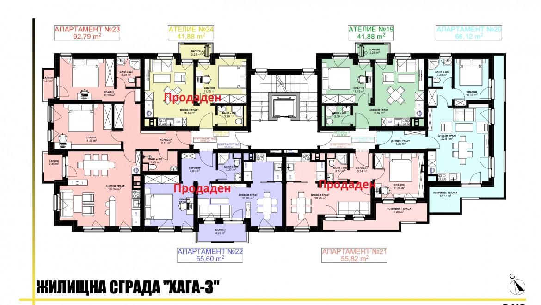 Ап. 20 – апартамент с 1 спалня