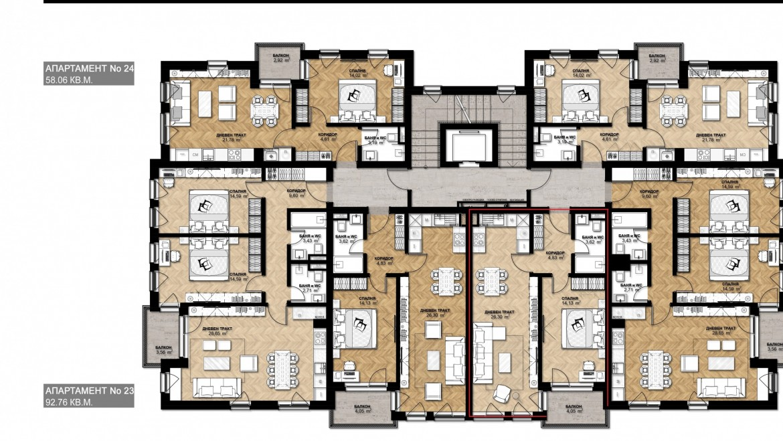 Ап. 21 – апартамент с 1 спалня