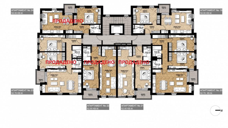 Ап. 19 – апартамент с 1 спални
